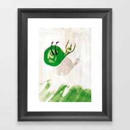 Lettuce Woman Framed Art Print