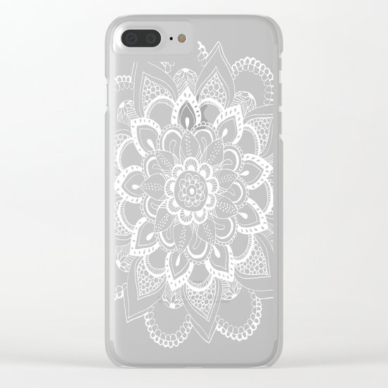 Winter Fountain Mandala Clear iPhone Case