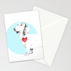 Long dog Stationery Cards
