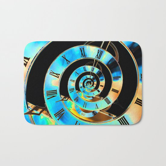 Infinite Time Blue Bath Mat