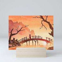 Samurai Scene, Bushido Ronin Mini Art Print