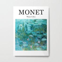 Monet Water Lilies Metal Print