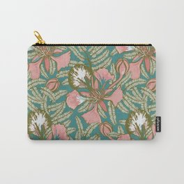 Poinciana Tropical Summer // Hand drawn Pattern Carry-All Pouch
