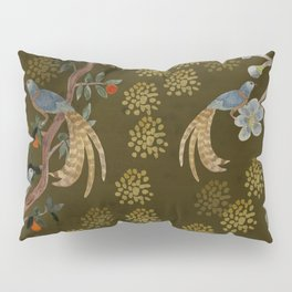 Golden Chinese Forest - Chinese Art Pillow Sham