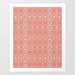 Aztec Coral Art Print