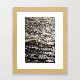 Torrent river Framed Art Print