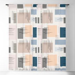 Wandering pastels Blackout Curtain