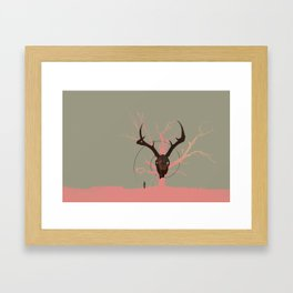 Killing Time Between Scenes Framed Art Print