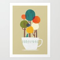 Life in a cup Art Print