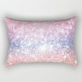 Pastel Galaxy Sparkle Stars Rectangular Pillow