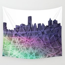 Abstact city skyline Wall Tapestry