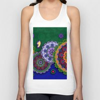 india Tank Tops featuring Blooming India by Robin Curtiss