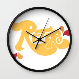 Retro Type and Pattern Design Wall Clock