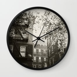 Apartments in Flushing, New York City, NYC Wall Clock
