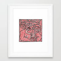 keith haring Framed Art Prints featuring Keith Haring by cvrcak