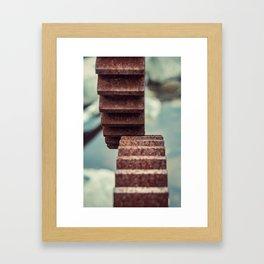 Interlocked in Rust Framed Art Print