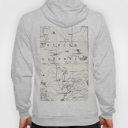 Northern California Map 1866 Hoody