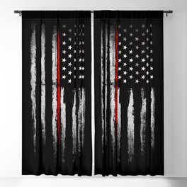 USA red line flag Blackout Curtain