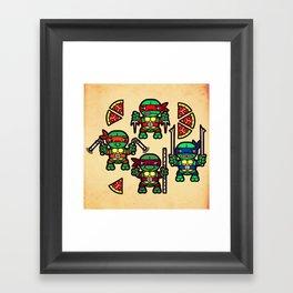 Teenage Mutant Ninja Turtles Pizza Party Framed Art Print
