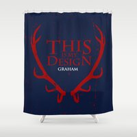 will graham Shower Curtains featuring House Graham by Alecxps