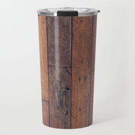 wood pattern Travel Mug