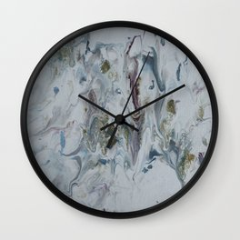 Teal, Eggplant, and Gold Marble Wall Clock