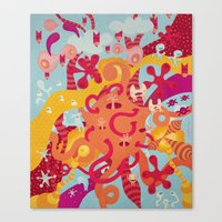 mad Canvas Prints featuring MAD by Piktorama