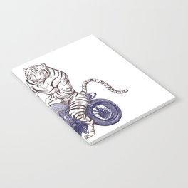 Tiger on a Motorcycle Notebook