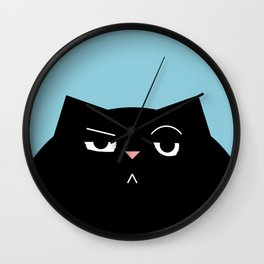 The Boss - Black Cat Illustration Wall Clock