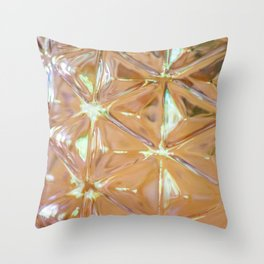Pink glass Throw Pillow