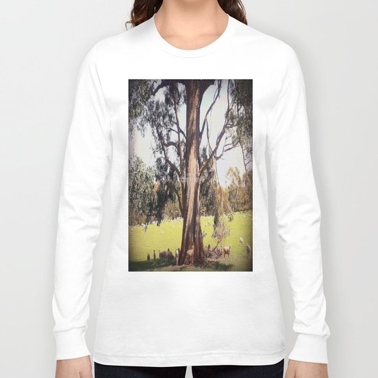 Under the shade of a coolabah Tree Long Sleeve T-shirt