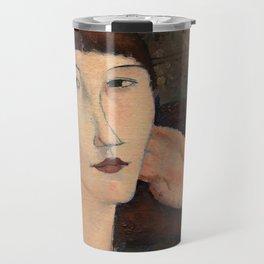 "Amedeo Modigliani ""Adrienne (Woman with Bangs)"" (1916) Travel Mug"