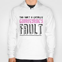 fault Hoodies featuring courfeyrac's fault by Gender Monster