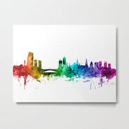 Leeds England Skyline Metal Print