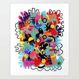 Color blobs 002 Art Print