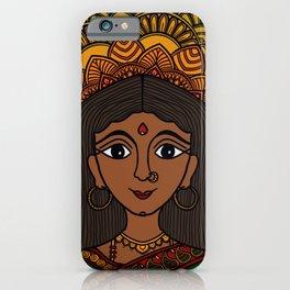 South Indian Woman Mandala iPhone Case