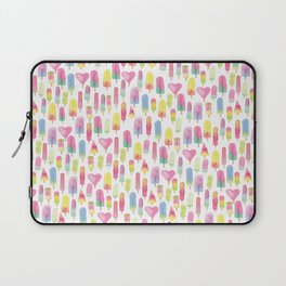 Watercolor Ice-cream and Popsicles Laptop Sleeve