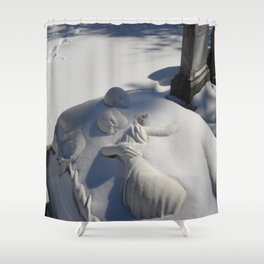 Essendo Morti - Brother and Sister Tomb - Swan Point Cemetery - by Jeanpaul Ferro Shower Curtain