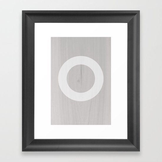 Circle White Framed Art Print