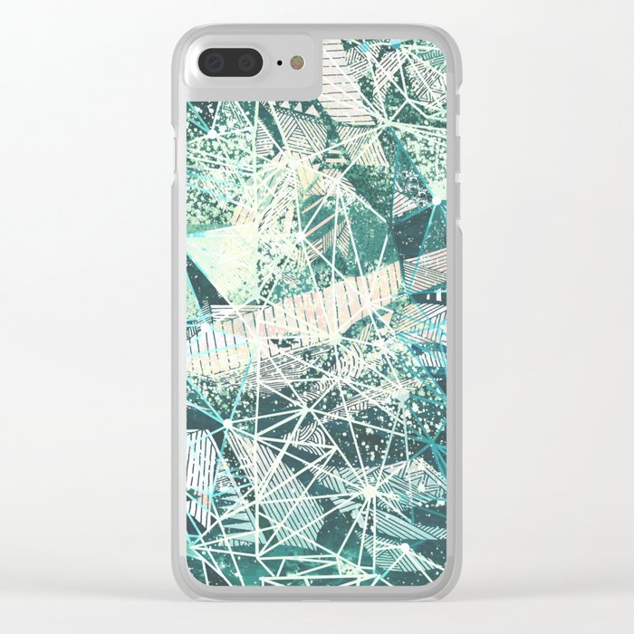 emerald space Clear iPhone Case
