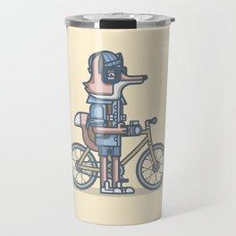 Hipster Fox Travel Mug