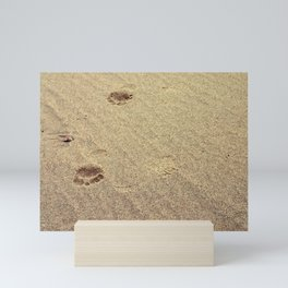 Footprints in the Sand in my Walk on the Beach Mini Art Print
