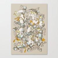 inner demons Canvas Prints featuring Inner Demons by Katie Owens