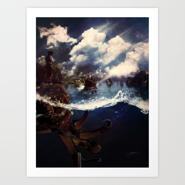 A Journey to Tortuga Art Print