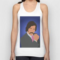 anchorman Tank Tops featuring Brian Fantana - Anchorman by Tom Storrer