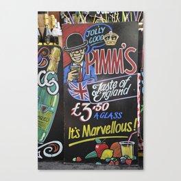 Pimm's Canvas Print
