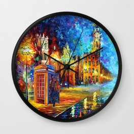Sherlock and Big ben starry the night iPhone 4 4s 5 5c 6, pillow case, mugs and tshirt Wall Clock