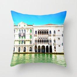 Ca' D'Oro Palace - Venice, Italy Throw Pillow