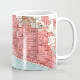 Vintage Map of Long Beach California (1949) 3 Coffee Mug