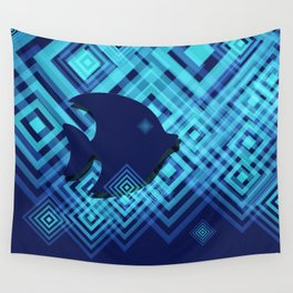 Blue Fish Angel Anglers Angles Wall Tapestry